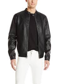guess men s logan moto faux leather jacket m