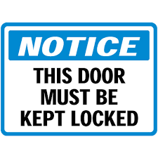 Lock Door Sign Photos of ideas in 2018 Budasbiz