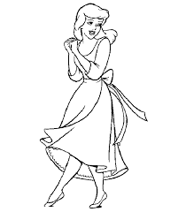 Small Picture Ordinary Cinderella Coloring Pages For Kids Cartoon Coloring