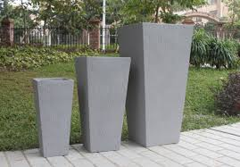 stylish tall outdoor planters — home designing