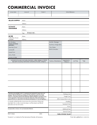 Blank International Commercial Invoice And Commercial Invoice For