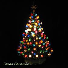 60s70s Vintage Handmade Ceramic Christmas Music Box Tree W Dove Ceramic Tabletop Christmas Tree With Lights