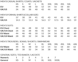 Hugo Boss Swim Shorts Size Chart Size Guide Louis Copeland Sons