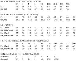 Hugo Boss Shirt Size Chart Uk Size Guide Louis Copeland Sons