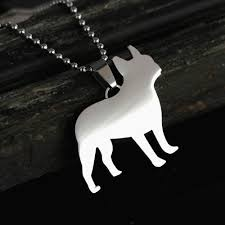 details about new stainless steel french bulldog frenchie pet dog charm pendant necklace tag