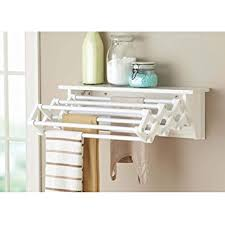 Amazon.com: Better Homes and Gardens Wall-Mounted Drying Rack, White: Home  & Kitchen