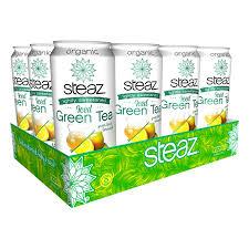 Steaz Lightly Sweetened Green Tea Amazon Com Steaz Lightly Sweetened Green Tea Half And