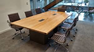 office wood table. Custom Made Reclaimed Wood And Steel Industrial Conference Table Office