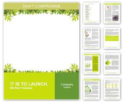 frame template word frame of green leaves word template design id 0000010648