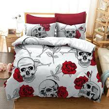 skull bedding sets queen rose skull bedding sets for queen size sugar skull duvet cover with