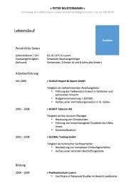 Lebenslauf Vorlage Schweiz Muster Und Vorlagen Kostenlos