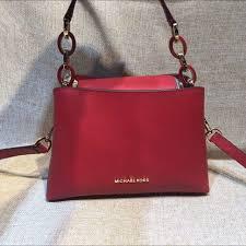 michael michael kors mk portia large saffiano leather shoulder bag luxury on carou