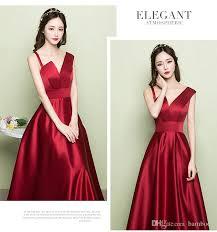 wine red wedding. Evening Dress Woman 2018 New Toast Dress Slim Satin Wine Red Wedding