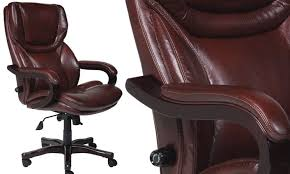 serta 43506 bonded leather big tall executive chair brown