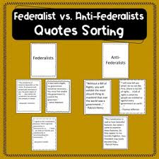 Federalists Vs Anti Federalists Chart Worksheets Teaching