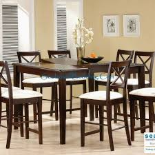 bar height dining room table sets cool kent erfly leaf cappuccino 5 pc pub table set