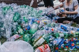 Plastic Bottle Recycling Mermaid Swims In 10000 Plastic Bottles