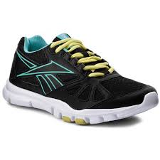 reebok yourflex womens. shoes reebok - yourflex trainette rs 6.0 m45167 black/blue/yellow womens