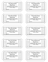 tickets template prize ticket template