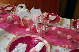 idee deco table bapteme fille