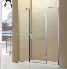 aluminum shower screen with 10mm tempered glass swing shower door 1500 width