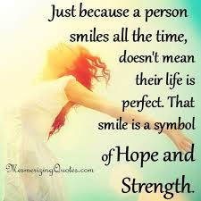 Quotes on smile Smile is a symbol of Hope and Strength Mesmerizing Quotes 93