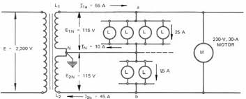 the single phase three wire secondary system 1 schematic diagram of a three wire system supplied from a single phase transformer