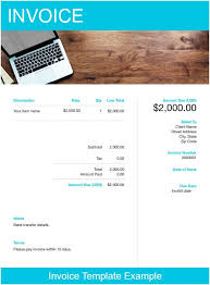 Example Of A Invoice Example Invoice Template Free Download Send In Minutes