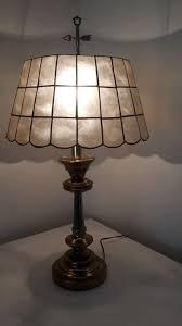 capiz table lamp with capiz lampshade underwriters laboratories portable lamp