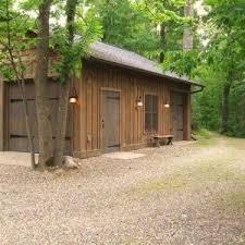 rustic garage doorsminneapolis rustic garage doors shed with hanging lantern