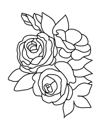 992x1226 flower coloring pages