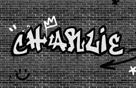 personalised graffiti brick wall mural