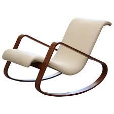 Rocking Chair Modern italy giuseppe pagano bentwood leather rocker rocking chairs 5328 by uwakikaiketsu.us