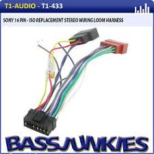 sony car stereo auto radio iso wiring lead old version image is loading sony car stereo auto radio iso wiring lead