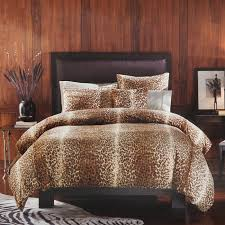 leopard print faux fur 3 piece king duvet cover set free