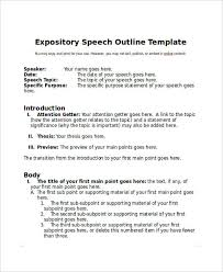 speech outline samples expository speech outline