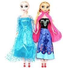 Set 2 Búp Bê Nữ Hoàng Băng Giá Elsa Và Anna Có Khớp