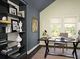 Impressive Paint Colors Office Blue Home Ideas Boldly Accented And Design
