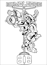 Transformer Coloring Pages Autobots Bumblebee Coloringstar