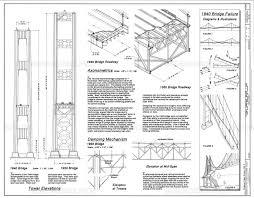 Design Of The Tacoma Narrows Bridge Science Source Tacoma Narrows Bridge