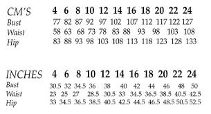 Bust Size Chart Women A Guide To Pattern Cup Sizes And A Handy Reference