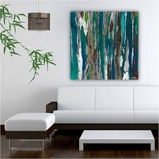 extra large wall art canvas very large artwork large art print tree art gray teal blue landscape artwork living room art dining room art best office art