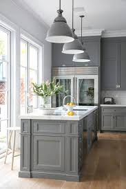 cabinet ideas for kitchen. Contemporary Cabinet A Light Wood Floor And White Tile Backsplash Will Help Brighten The Room  While Allowing Gray Cabinets To Become Centerpiece Of Design Inside Cabinet Ideas For Kitchen E