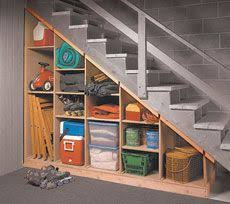 Great Ideas for Unfinished Basement Space | Basement stair, Basements and  Storage