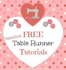 10 Free Valentine's Day Table Runner Tutorials | Table runner ... & 10 Free Valentine's Day Table Runner Tutorials Adamdwight.com