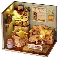 diy miniature house wooden furniture kits handmade mini doll house model toys for kids birthday gift from ae uae