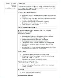 Nanny Resume Skills Interesting Nanny Resume Sample Format Template Simple Resume