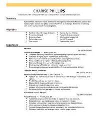 injection molding technician resume injection molding  mechanic resume entry level mechanic resume example installation repair sample