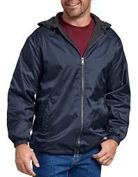 ies mens fleece lined nylon hooded jacket
