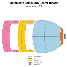 Sacramento Community Center Theater Seating Chart Sacramento Community Center Theater Tickets Sacramento